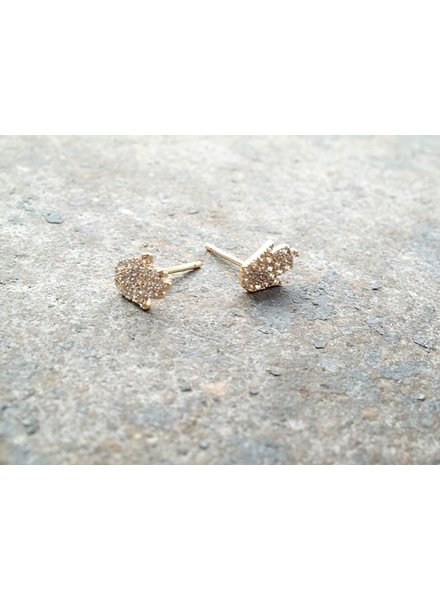 Sterling Gold plated hamsa stud