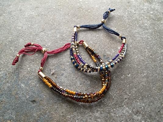 Trend 3 layer beaded bracelet