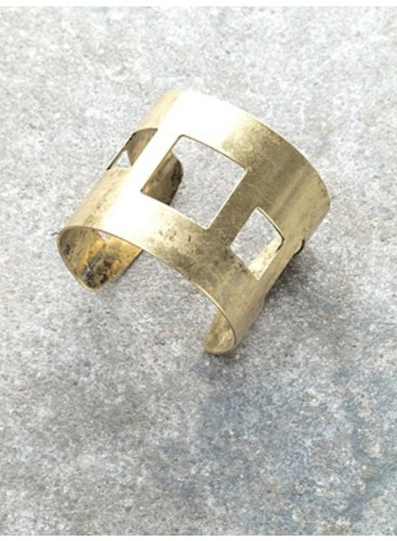Gold Gold square cutout cuff