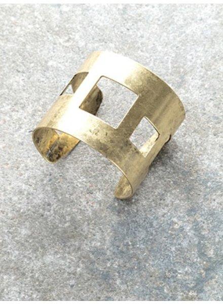Gold Gold square cutout cuff