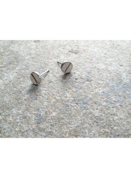 Stud Silver screw studs