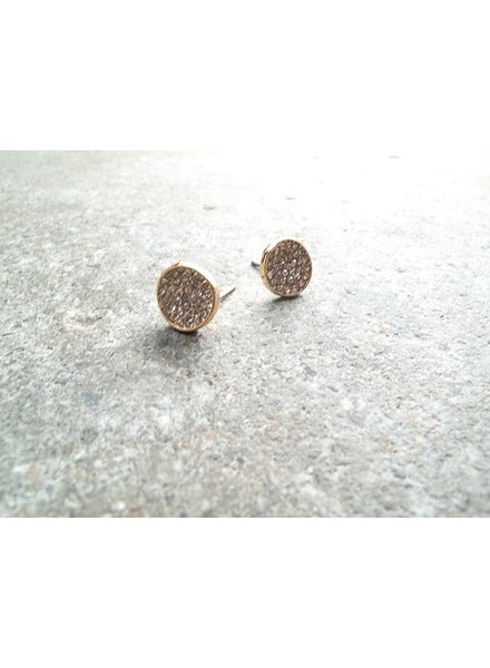 Stud Gold encrusted studs