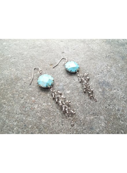 Stone Stone earring with dangling beads