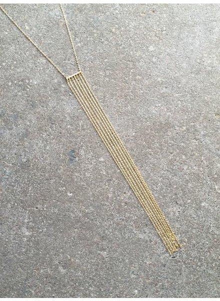 Sterling Gold plated sterling fringe necklace