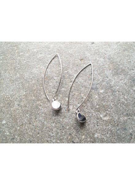 Silver Loop dangle coin earring