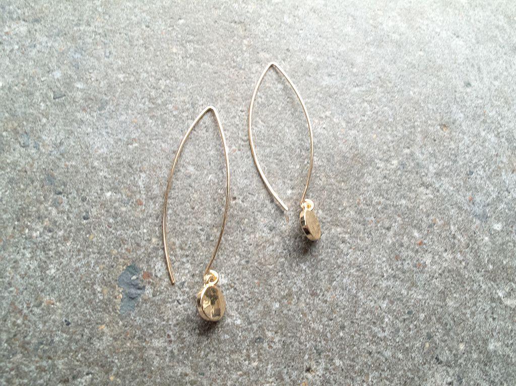 Silver Loop dangle coin earring