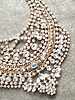 Gold Egyptian rhinestone bib necklace