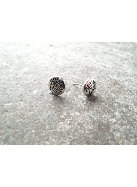 Silver Tree of life stud