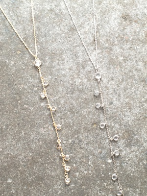 Stone Embellished Y necklace