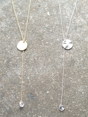 Gold Coin and rhinestone lariat
