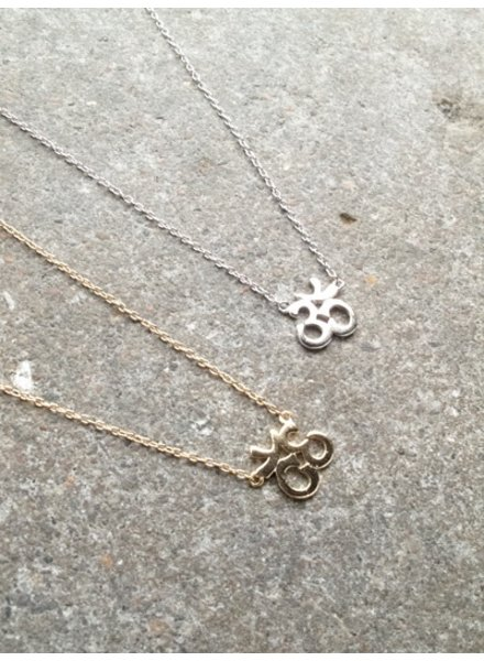 Sterling Gold or silver om necklace