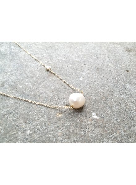 Sterling Gold plated opal like necklace
