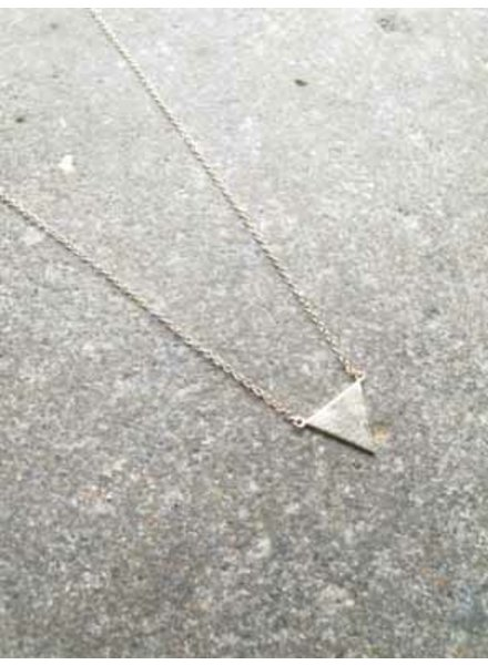 Sterling Gold triangle pendant