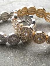 Dressy Rhinestone circle bracelet