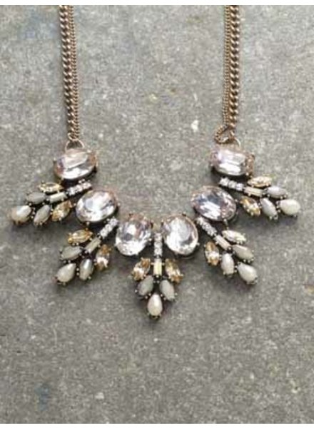 Dressy Antiqued jewel statement