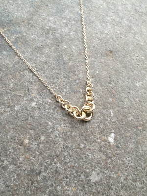 Sterling Gold plated mini link necklace