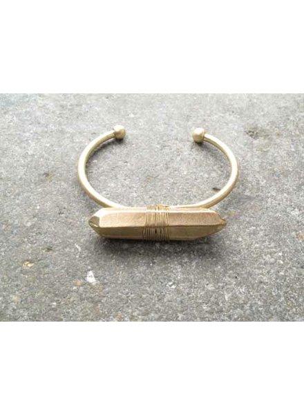 Gold Gold rock bangle