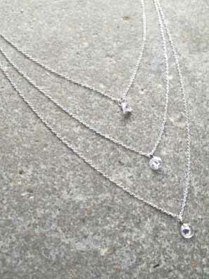 Dressy Triple layer mini crystal strands *MORE COLORS