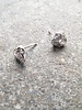 Sterling Sterling and rhinestone knot studs