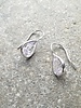 Sterling Teardrop sterling and stone dangle