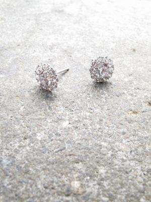 Sterling Sterling rhinestone petal clusters