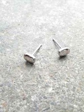 Sterling Sterling silver tiny bean shaped stud