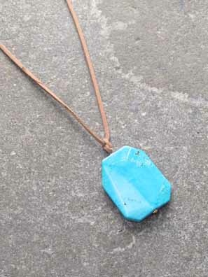 Stone Adjustable long rope stone necklace