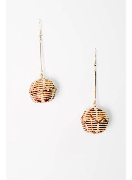 Trend Woven Ball Trend Earrings