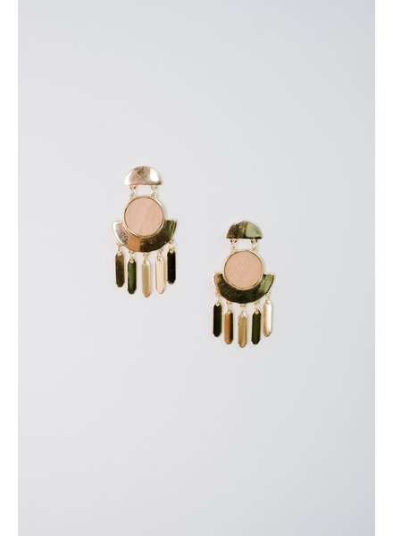 Trend Wood Center Dangle Earrings
