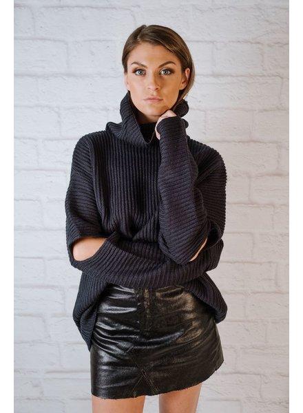 Skirt Metallic Moto Skirt