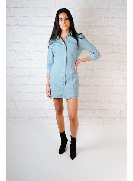 Mini Snappy Denim Dress