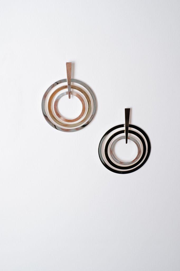 Trend Interlocking Circle Earrings