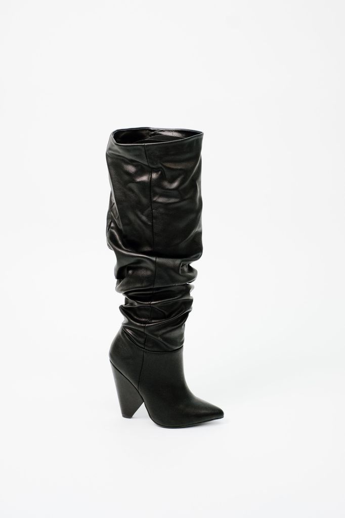 Boot Vegan Leather Scrunch Boot