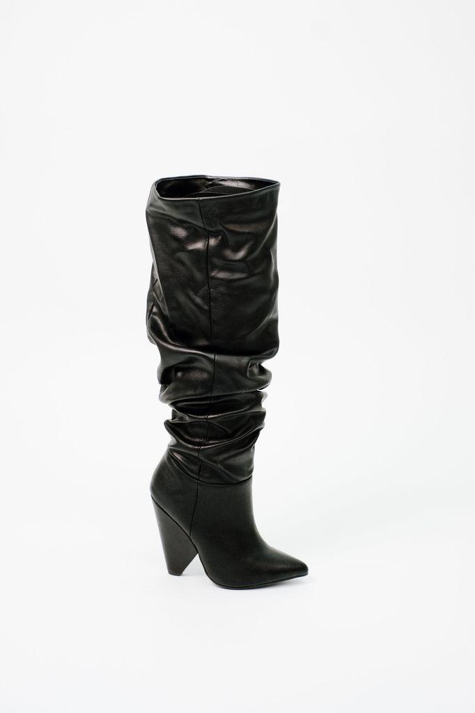 Boot Vegan Leather Scrunch Boot