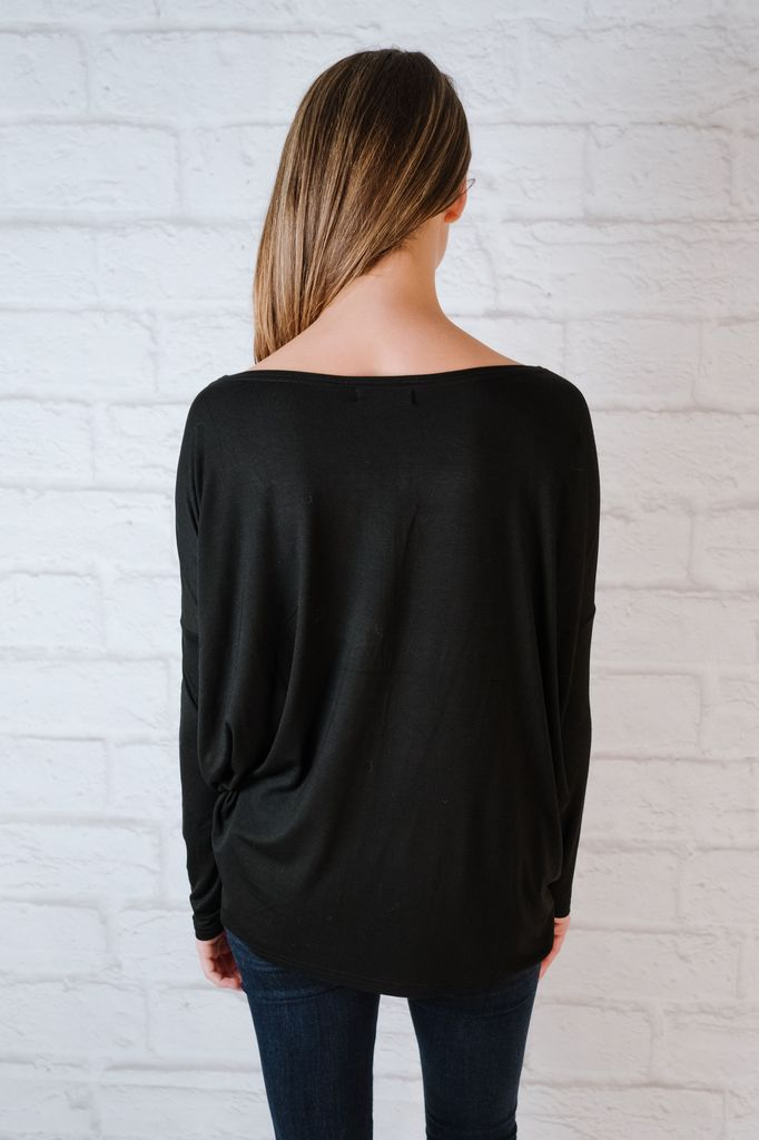 T-shirt Black Bamboo Top