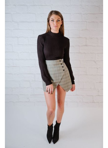 Skirt Grey Plaid Skirt