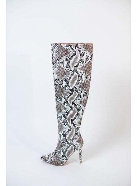 Boot Snake Print OTK Boot