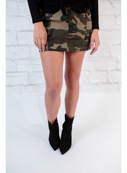 Skirt A-line Camo Skirt