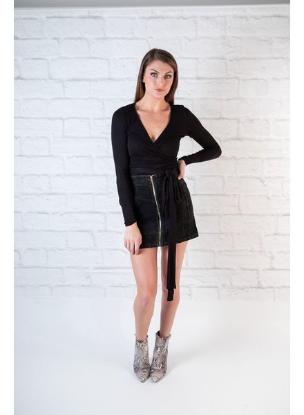 Skirt Black Cord Mini