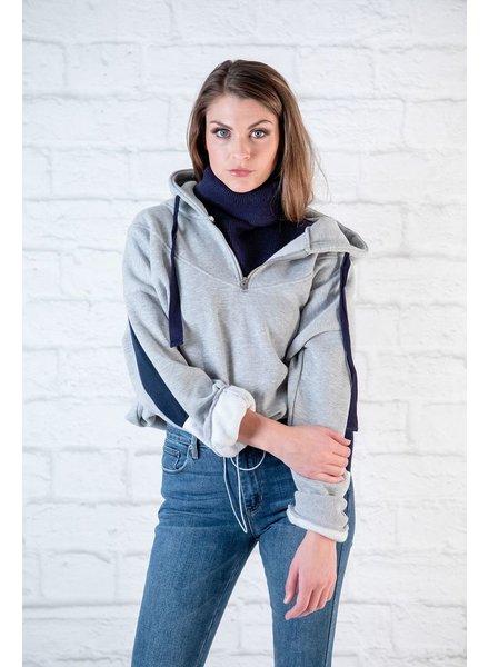 Sweatshirt Grey Converible Sweatshirt