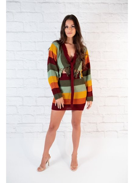 Skirt Rainbow Knit Skirt