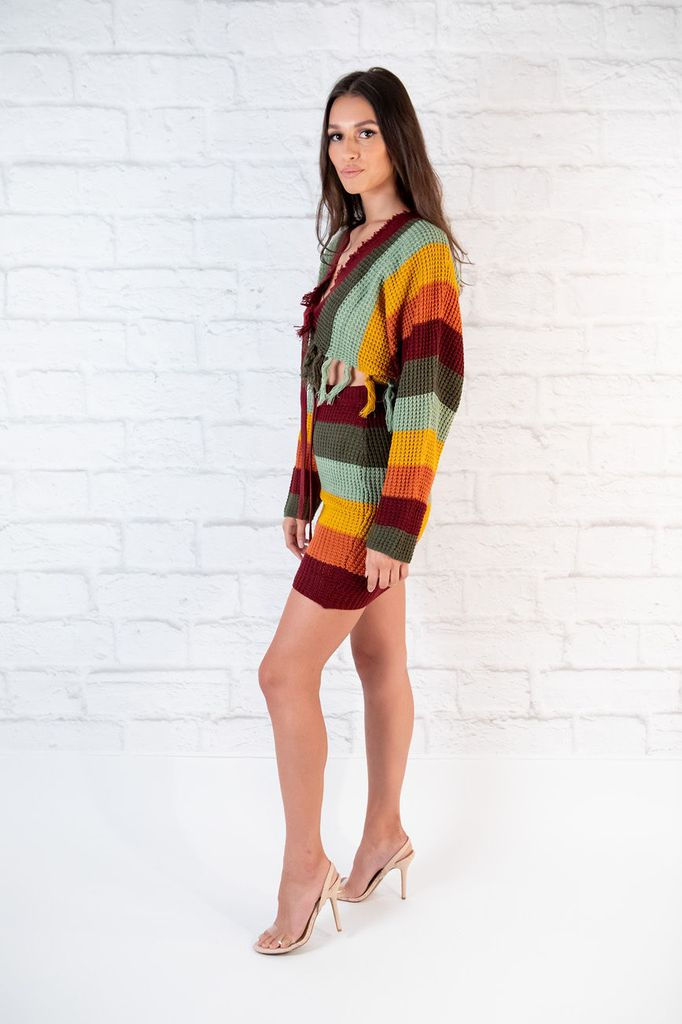 Skirt Rainbow Knit Skirt