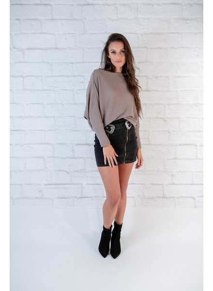 T-shirt Taupe Waffle Favorite