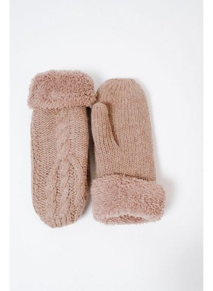 Gloves Cable Knit Mittens