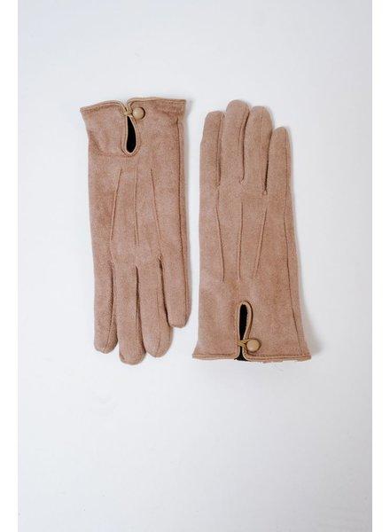Gloves Tan Suede Gloves