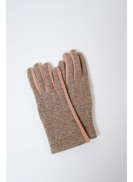 Gloves Tweed Contrast Gloves