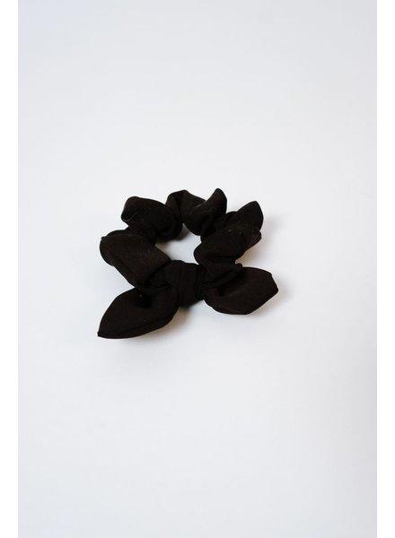 Headwrap Black Bow Scrunchie