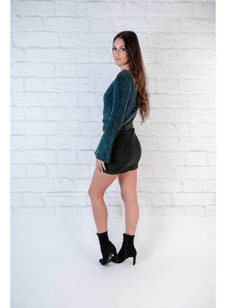 Sweater Emerald Velveteen Knit