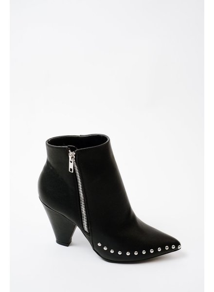 Bootie Stud & Zipper Ankle Boot