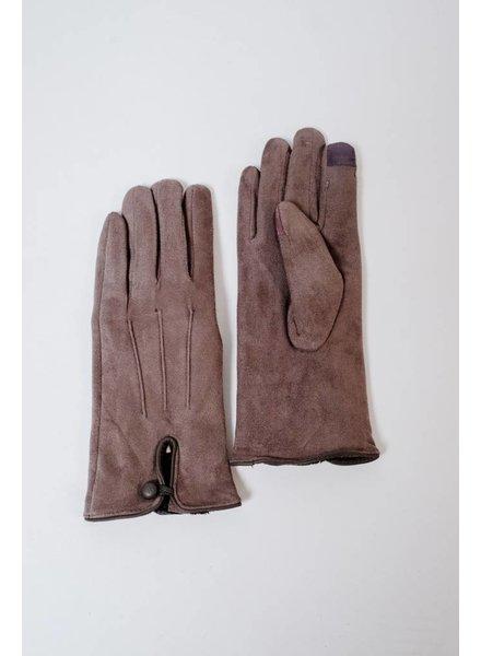 Gloves Grey Suede Gloves